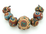 Assorted Ceramic Warring States Focal Beads - Indonesia (CB535)