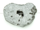 Silver Electroplated Druzy Agate Pendant 48mm (GSP1522)