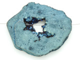Electroplated Druzy Agate Pendant 62mm (GSP1562)
