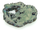 Electroplated Druzy Agate Pendant 53mm (GSP1611)