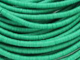 Emerald Green Vinyl Disc Beads 3-4mm (VY209)