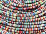 Assorted Vinyl Disc Beads 2-3mm (VY222)