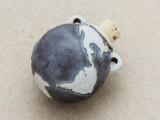 Earth Ceramic Cork Bottle Pendant 51mm (AP1890)