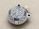 Celtic Knot Ceramic Cork Bottle Pendant 35mm (AP1893)