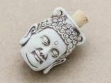 Buddha Head Ceramic Cork Bottle Pendant 36mm (AP1899)