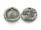 Forget Me Not - Pewter Wax Seal Charm 14mm (PW854)