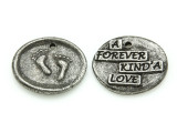 Forever Kind'a Love - Pewter Wax Seal Charm 21mm (PW857)