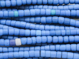 Blue Glass Maasai Trade Beads 5-6mm (AT7186)