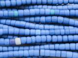 Blue Glass Maasai Trade Beads 5-6mm (AT7186)