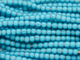 Light Blue White Heart Trade Beads 5mm - Africa (AT7195)