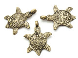 Bronze Turtle Tibetan Pendant 45mm (TB292)