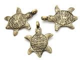 Bronze Turtle Tibetan Pendant 45mm (TB292)