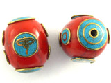 Buddha Eyes Tibetan Bead 28mm (TB525)