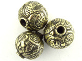 Brass Round Tibetan Bead 20mm (TB542)