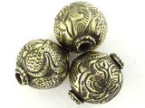 Brass Round Tibetan Bead 24mm (TB543)