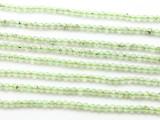 Prehnite Faceted Round Gemstone Beads 3.5mm (GS4020)