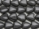 Black Agate Heart Gemstone Beads 16mm (GS4041)