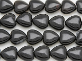 Black Agate Heart Gemstone Beads 14mm (GS4043)