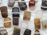 Brown Agate Block Gemstone Beads 12-15mm (GS4065)