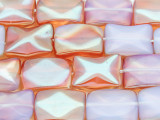 Peach Opalite Rectangle Tabular Gemstone Beads 19mm (GS4096)