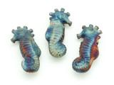 Seahorse Raku Ceramic Bead 35mm - Peru (CER119)