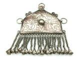 Afghan Tribal Silver Pendant - Amulet 114mm (AF509)