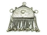 Afghan Tribal Silver Pendant - Amulet 111mm (AF520)