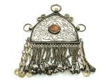 Afghan Tribal Silver Pendant - Amulet 116mm (AF522)