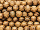 Swirled Round Wood Beads 10mm (WD939)