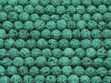 Green Round Lava Rock Beads 6mm (LAV131)