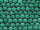 Green Round Lava Rock Beads 8mm (LAV132)
