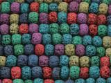 Multi-Color Rondelle Lava Rock Beads 8mm (LAV133)