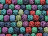 Multi-Color Rondelle Lava Rock Beads 10mm (LAV135)
