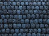 Navy Blue Rondelle Lava Rock Beads 8mm (LAV136)