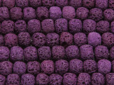 Purple Rondelle Lava Rock Beads 10mm (LAV137)