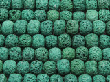 Green Rondelle Lava Rock Beads 10mm (LAV139)