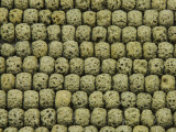 Yellow-Green Rondelle Lava Rock Beads 8mm (LAV141)