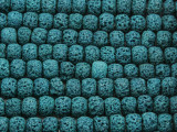Teal Rondelle Lava Rock Beads 8mm (LAV142)