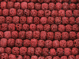 Cranberry Red Rondelle Lava Rock Beads 8mm (LAV145)