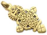 Brass Coptic Cross Pendant - 65mm (CCP624)