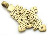 Brass Coptic Cross Pendant - 60-61mm (CCP627)