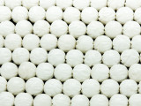 Carved Round Shell Beads 10mm (SH553)