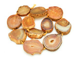 Orange Agate Slab Gemstone Beads 30-42mm (AS848)