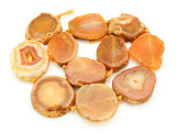 Orange Agate Slab Gemstone Beads 33-38mm (AS849)