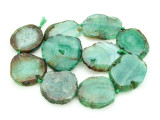 Green Agate Slab Gemstone Beads 34-41mm (AS852)