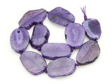 Purple Agate Slab Gemstone Beads 37-44mm (AS880)