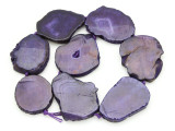 Purple Agate Slab Gemstone Beads 42-55mm (AS920)