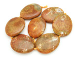 Tan Agate Slab Gemstone Beads 51-54mm (AS932)