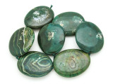 Green Agate Slab Gemstone Beads 53-55mm (AS934)
