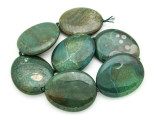 Green Agate Slab Gemstone Beads 52-54mm (AS937)